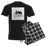 Weight Pull Power Men's Dark Pajamas