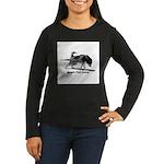 Weight Pull Power Women's Long Sleeve Dark T-Shirt