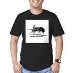 Weight Pull Power Men's Fitted T-Shirt (dark)