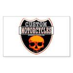 CUSTOM MOTORCYCLES Sticker (Rectangle 50 pk)
