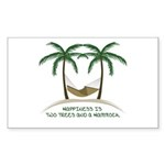 Happiness is a hammock Sticker (Rectangle 50 pk)
