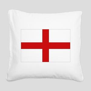 English Flag Square Canvas Pillow