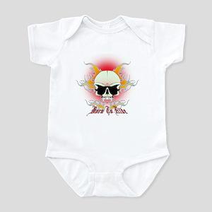 bmx,flaming skull Infant Bodysuit