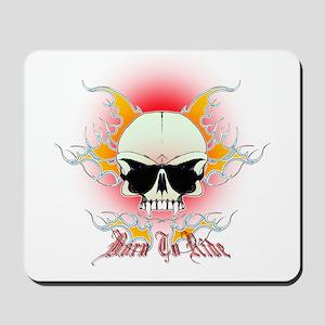 bmx,flaming skull Mousepad