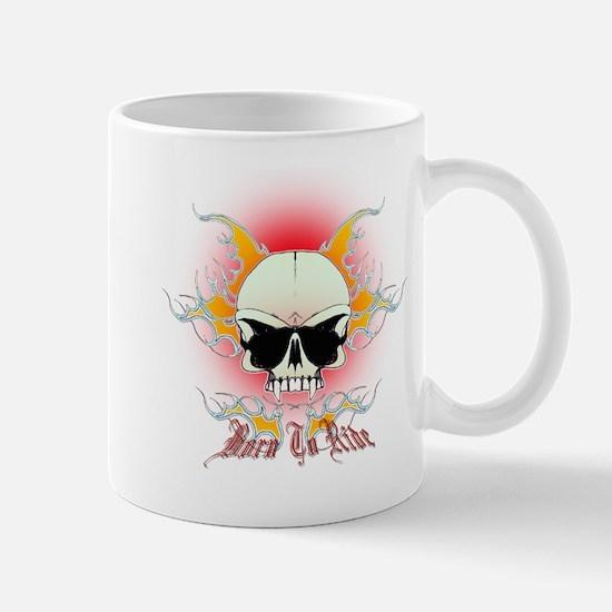 bmx,flaming skull Mug