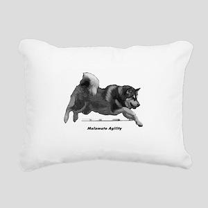 Malamute Agility Rectangular Canvas Pillow