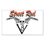 Street Rod v8 flamed Sticker (Rectangle 50 pk)