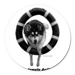 Malamute Agility Round Car Magnet