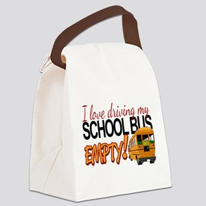 Bus Driver - Empty Bus Canvas Lunch Bag