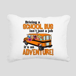 Driving a School Bus Rectangular Canvas Pillow