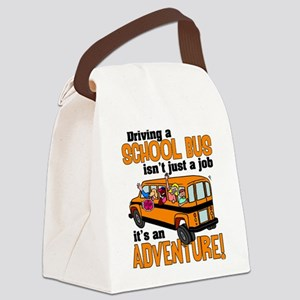 Driving a School Bus Canvas Lunch Bag