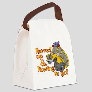 revved up Canvas Lunch Bag