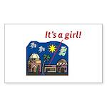 ItsAGirl Sticker (Rectangle 50 pk)