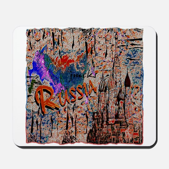 russia abstract crayon effect art illustration Mou