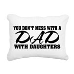 Dad with Daughters Rectangular Canvas Pillow