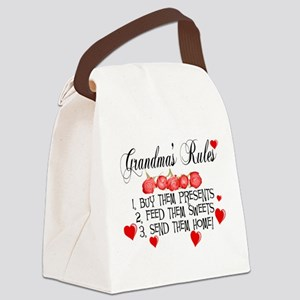 Grandma's Rules Canvas Lunch Bag