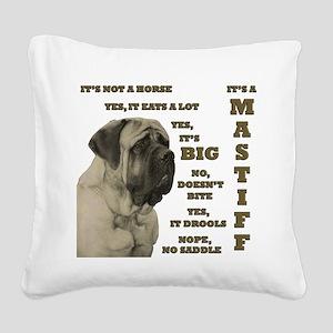 Mastiff FAQ Square Canvas Pillow