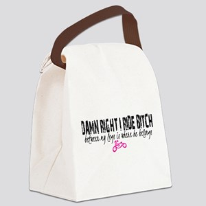 Riding Bitch Canvas Lunch Bag