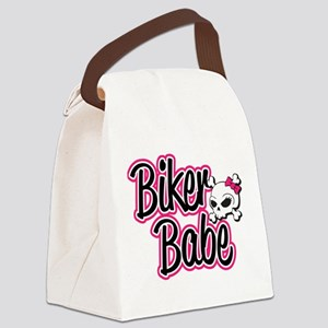 Biker Babe Canvas Lunch Bag
