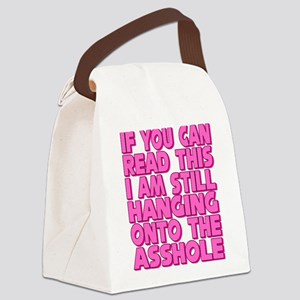 Still Hanging On! Canvas Lunch Bag