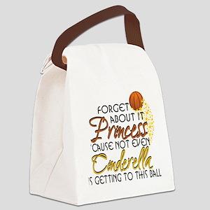 Not Even Cinderella - Basketball Canvas Lunch Bag