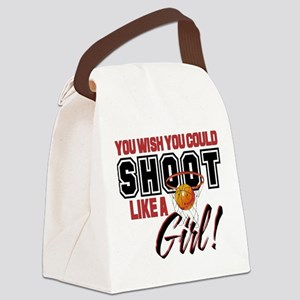 Basketball - Shoot Like a Girl Canvas Lunch Bag