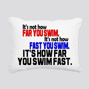 Swim Fast Rectangular Canvas Pillow