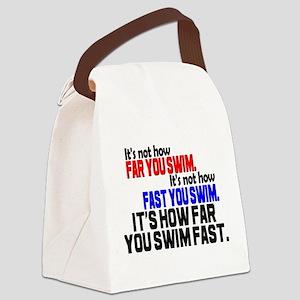 Swim Fast Canvas Lunch Bag