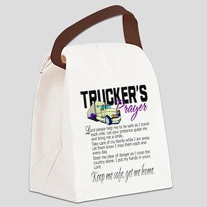 Trucker's Prayer Canvas Lunch Bag