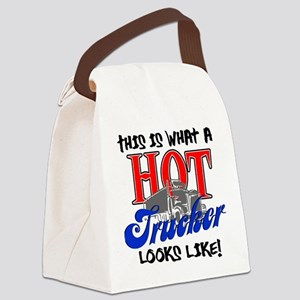 Hot Trucker Canvas Lunch Bag