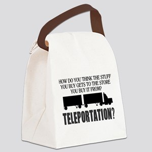 Teleportation Truck Driver Canvas Lunch Bag
