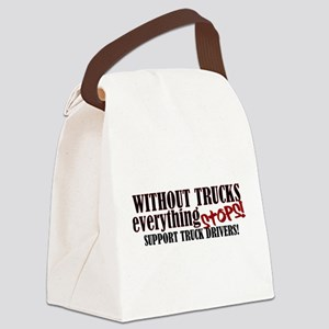 Trucker Support Canvas Lunch Bag