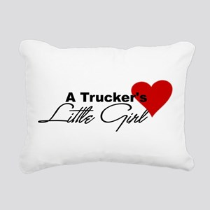 3-truckerslittlegir... Rectangular Canvas Pillow