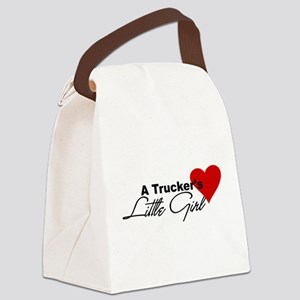 3-truckerslittlegir... Canvas Lunch Bag