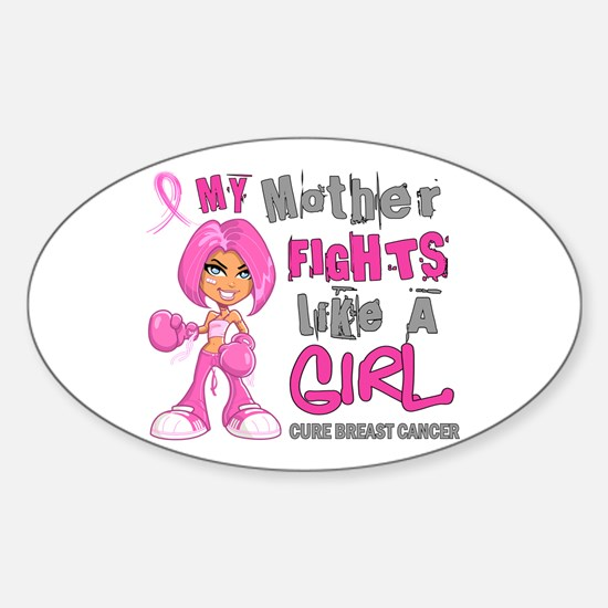 Licensed Fight Like A Girl 42.9 Bre Sticker (Oval)