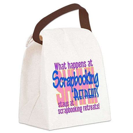 Scrapbooking Retreats Shhh Canvas Lunch Bag By Insanitycafe