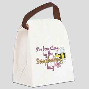 Scrapbooking Bug Canvas Lunch Bag