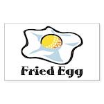 Fried Egg Sticker (Rectangle)