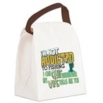 quit wife fish Canvas Lunch Bag