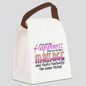 Happiness Massage Canvas Lunch Bag