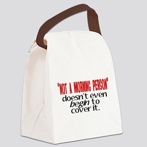 Morning Person Canvas Lunch Bag