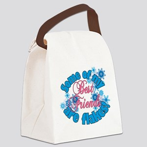 Flakes for Best Friends Canvas Lunch Bag