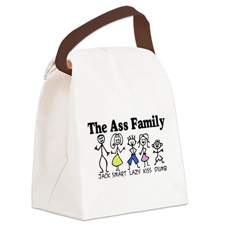 The Ass Family Canvas Lunch Bag