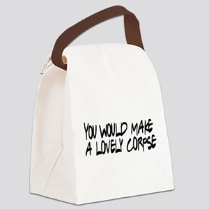 Lovely Corpse Canvas Lunch Bag