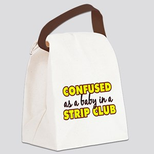 Confused as a baby... Canvas Lunch Bag