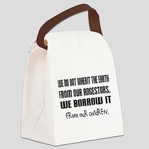 borrow the earth Canvas Lunch Bag