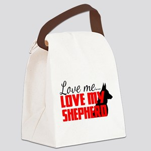 Love Me, Love My Shepherd Canvas Lunch Bag