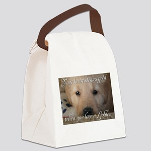 Your heart strikes gold Canvas Lunch Bag