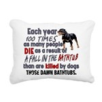 Killer Bathtubs Rectangular Canvas Pillow