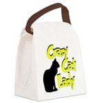 crazy cat lady.png Canvas Lunch Bag